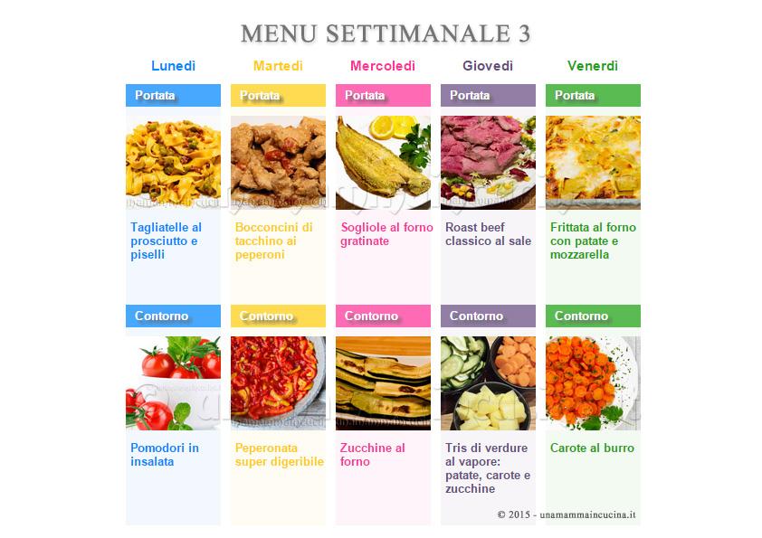 dieta mediterranea esempio menu