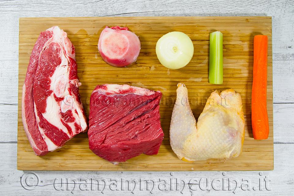 Brodo di Carne - Ingredienti a Crudo