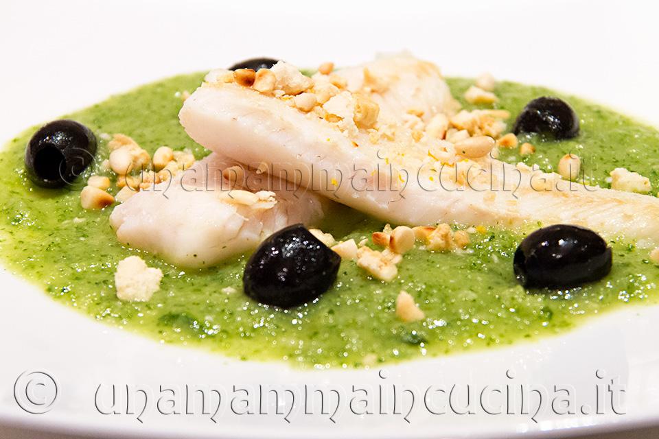 Filetto di Merluzzo Croccante con Crema di Zucchine di