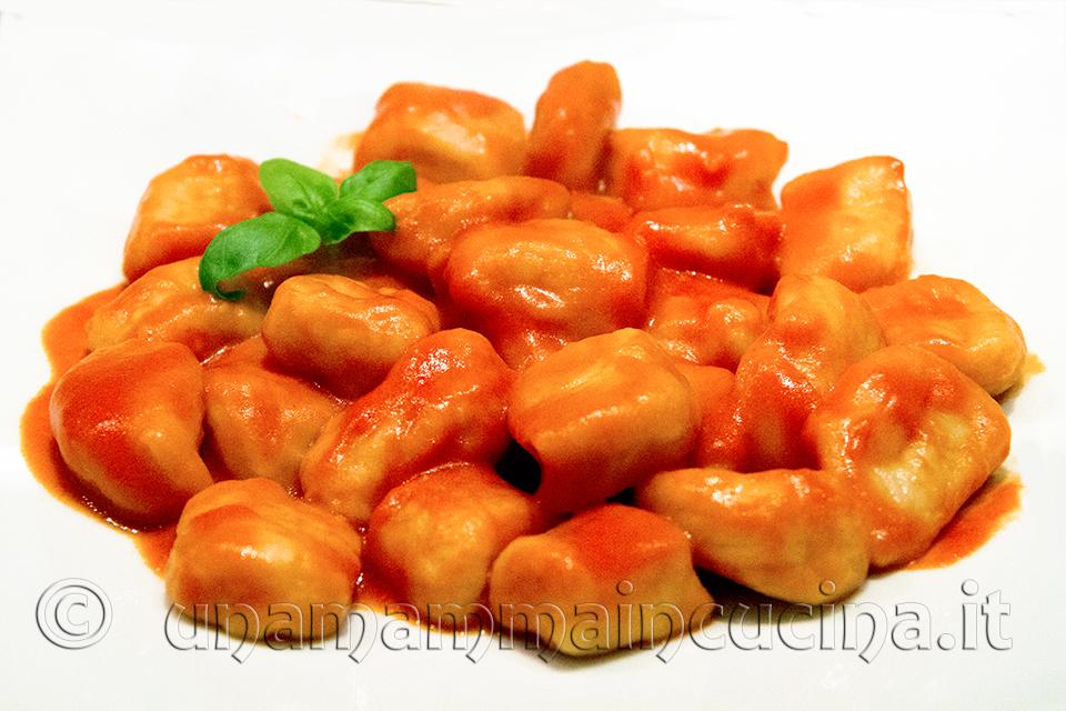 Gnocchi di patate al sugo di pomdoro gustosi delicati e molot graditi ai bambini preparazione tipica bolognese | Ricetta di unamammaincucina.it